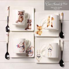 180 мл моды завтрак Животных Чашка Кофе Милые Животные творческая чашка молока краткое чашка кофе с ложкой чашки и блюдца купить на AliExpress