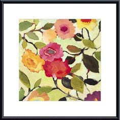 Kim Parker 'Wild Roses' Framed Art Print