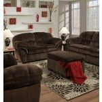 Simmons Upholstery - Championship Chocolate Loveseat - 7691-L  SPECIAL PRICE: $588.97