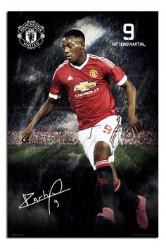 Anthony Martial of Man Utd in Manchester United Club, Manchester United Wallpaper, Football Fight, Football Players, Fifa, Man Utd Fc, Anthony Martial, Jersey Atletico Madrid, Poster