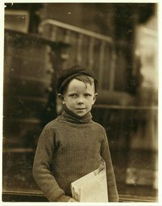Boy named Gurley. An eight year old newsie. 18th & Washington Sts.  Location: St. Louis, Missouri.