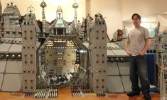 That's one patient wife: Husband takes over entire room of house to build enormous Lego castle with 250,000 bricks.