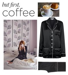 """Coffee"" by shistyle ❤ liked on Polyvore featuring Olivia von Halle and coffeebreak"