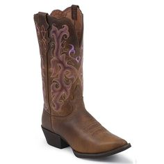 Justin Women's Snip Toe Western Boots