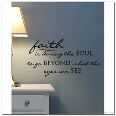 FAITH is going beyond Vinyl Wall Lettering Decor by itwaddle
