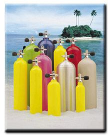 Buy any scuba cylinder in stock and receive 30 air fills for FREE!  This is a $170 value!