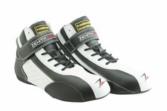 Zenith Racing DB-1 FIA Leather Racing Boots (WHITE)  #FIA #Zenithracing