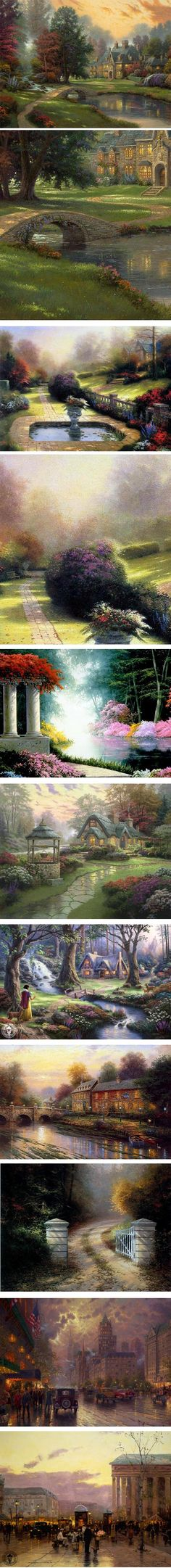 lines and colors :: a blog about drawing, painting, illustration, comics, concept art and other visual arts » Thomas Kinkade, 1958-2012