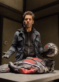 Ant-Man. The one thing I thought that could've been better was how Scott opened his helmet. He uses the palm of his hand, which seems to be a fairly hard motion. I think maybe if he used a single finger to open it, or it just opened automatically, it would've given the whole image a smoother, more badass look! (The movie was badass to begin with anyway!)