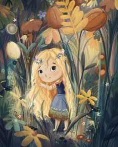 (1) Lucy's Illustrations (@IllustrateLucy) / Twitter Illustration Artists, Cute Illustration, Character Illustration, Garden Illustration, Illustration For Children, Arte Peculiar, Illustrations And Posters, Little Girl Illustrations, Pics Art