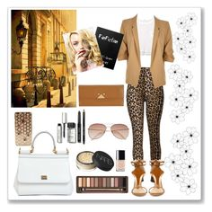"""""""Untitled #94"""" by szns0506 ❤ liked on Polyvore featuring MANGO, River Island, Dolce&Gabbana, Urban Decay, NARS Cosmetics, Chanel, Bobbi Brown Cosmetics, H&M and Emporio Armani"""