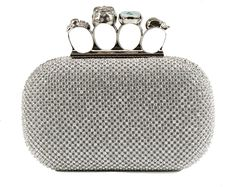 silver ring clutch #prom