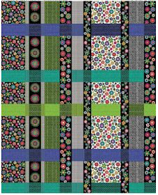 """Check out our FREE """"Panel Plaid"""" quilt pattern using the collection, """"Brush Dance"""" by Susan Rooney for Benartex. Designed by Susan Rooney. Finished size: x Easy Quilt Patterns Free, Bed Quilt Patterns, Jelly Roll Quilt Patterns, Free Pattern, Quilting Tutorials, Quilting Projects, Quilting Designs, Quilting Tips, Embroidery Designs"""