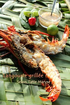 M daillon de langouste sauce coco et rhum vieux selon tatie maryse recettes antillaises - Langoustes grillees au four ...