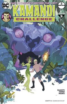The Kamandi Challenge n°3 (29.03.2017) // After the stunning cliffhanger of the last issue, the red-hot team of writer Jimmy Palmiotti and artist Amanda Conner takes the wheel and steers us toward a wild new adventure. Now, Kamandi is embraced by the God Watchers as a holy messenger! Can he keep up this charade long enough to survive? Or will the truth lead to the end of the last boy on earth?  #kamandi #challenge #dc #comics #dccomics