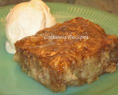 Coleen's Recipes: APPLE CAKE with CARAMEL SAUCE