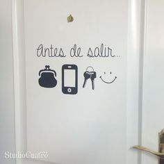 door-reminder: before you leave....