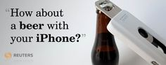 An iPhone case that is also a bottle opener