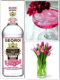 Mother Knows Best:  1 1/2 oz.  Georgi Bubble Gum Flavored Vodka/ 1 oz. Lemon Lime Soda/ 1 oz.  Club Soda/ Dash of Llords Grenadine