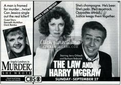 The short-lived Law & Harry McGraw (1987-1988)  Read more at http://clickamericana.com/media/advertisements/the-law-harry-mcgraw-tv-show-1987 | Click Americana
