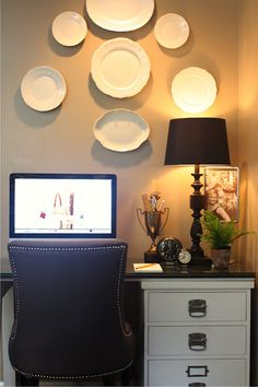 Cozy corner office space