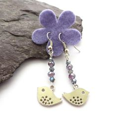 Easter chick Spring chick Silver bird dangle by QuiddityGifts