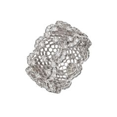 "Buccellati ""Tulle Ghirlanda"" 18k White Gold & Diamond Band Ring - Delicate, intricate, and utterly romantic!"