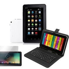 "NeoByte 9"" Android 4.4 KitKat A23 Tablet PC Bundled Keyboard Screen Guard Stylus Dual Core MID WiFi"