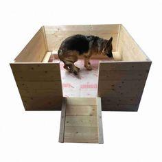 Cassa parto per cani in legno