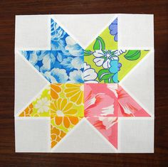 <3  <3  #tutorial for 15 great stars from quilt a long  --  Quattro Stagioni Star Tutorial by thought & found / Sheila, via Flickr