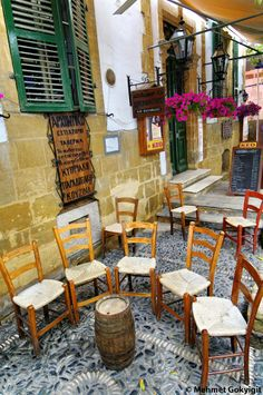 """Cyprus Lefkosia. """"Laiki Geitonia"""", the traditional neighbourhood inside the walls of Lefkosia. This area has seen the restoration of houses that are typical examples of traditional Cypriot urban architecture and are used today as shops, restaurants and craft centres."""