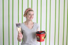 Home Improvement: Everything you need to know about painting walls, Vertical Stripes, Paint tools, and a little Crown Molding.