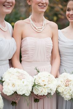 blush, gray, and white | Abby Grace #wedding