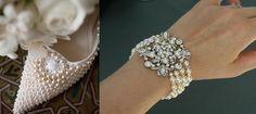 As delicadas pérolas são perfeitas para realçar a feminilidade e a elegância do traje da noiva! www.facebook.com/blacktienoivas