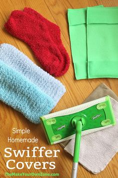 Five Ways to Make Homemade Swiffer Covers - The Make Your Own Zone Homemade Cleaning Supplies, Household Cleaning Tips, Cleaning Recipes, House Cleaning Tips, Diy Cleaning Products, Cleaning Hacks, Household Cleaners, Cleaning Solutions, Diy Hacks