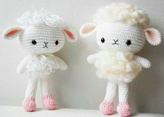 Sweet little crocheted lambs