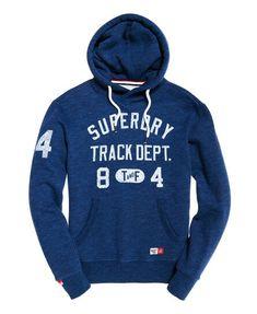 3ec2d937 Superdry Trackster hættetrøje til mænd. Hættetrøjen med krydskrave har  hætte med justerbar snøre, et
