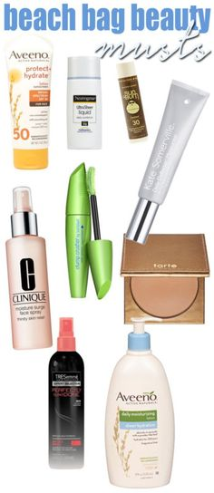 Beach Bag Beauty MUSTS!