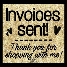 Paparazzi invoices sent graphic for all to use. ❤