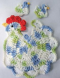 *Gallina con pollitos al crochet