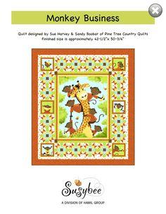 Susybee Buddies Storytime Quilt Pattern (FREE) | Julie's Quilt ... : monkey business quilt pattern - Adamdwight.com