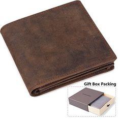 ODS:UK Mens Bifold Coin Leather Wallet Black