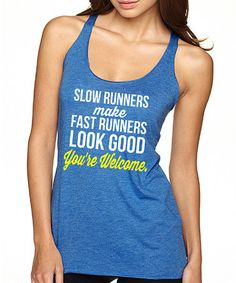 Another great find on #zulily! Royal Blue 'Slow Runners' Tank #zulilyfinds