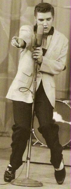 Elvis Presley on The Milton Berle Show, June 5, 1956 http://www.elvis-history-blog.com/elvis-milton-berle.html# #ElvisPresley