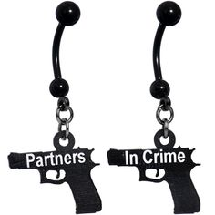 Handcrafted Partners in Crime Best Friends Dangle Belly Rings Country Belly Rings, Cute Belly Rings, Dangle Belly Rings, Belly Button Rings, Belly Button Piercing Jewelry, Piercing Ring, Belly Piercings, Piercing Ideas, Engagement Ring Settings