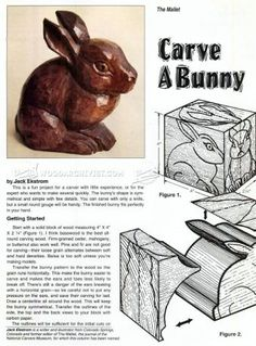 #1392 Bunny Carving - Wood Carving Patterns - Wood Carving Patterns and Techniques