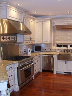 Hardwoods in kitchen