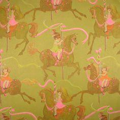 Hallmark    Sweet Girls on  Carousel  by HolidayKitschklatsch
