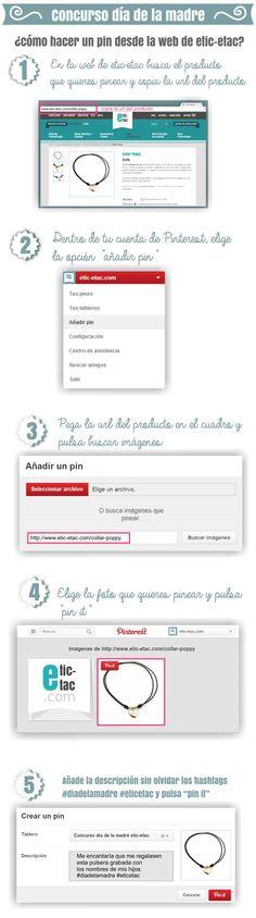 Necesitas saber cómo añadir un pin desde la web de etic-etac para participar en nuestro #concurso :)