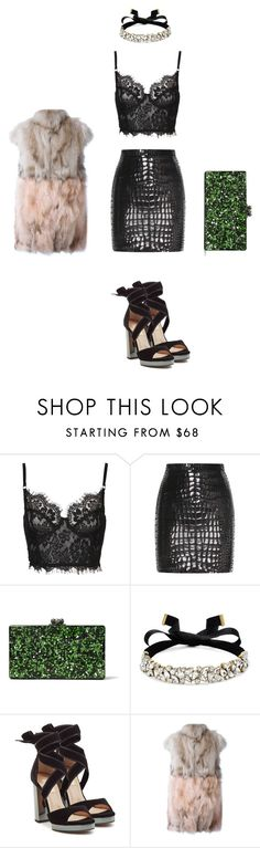 """Sans titre #212"" by meuniermelissa ❤ liked on Polyvore featuring Yves Saint Laurent, Edie Parker, BaubleBar, Valentino and Ava Adore"